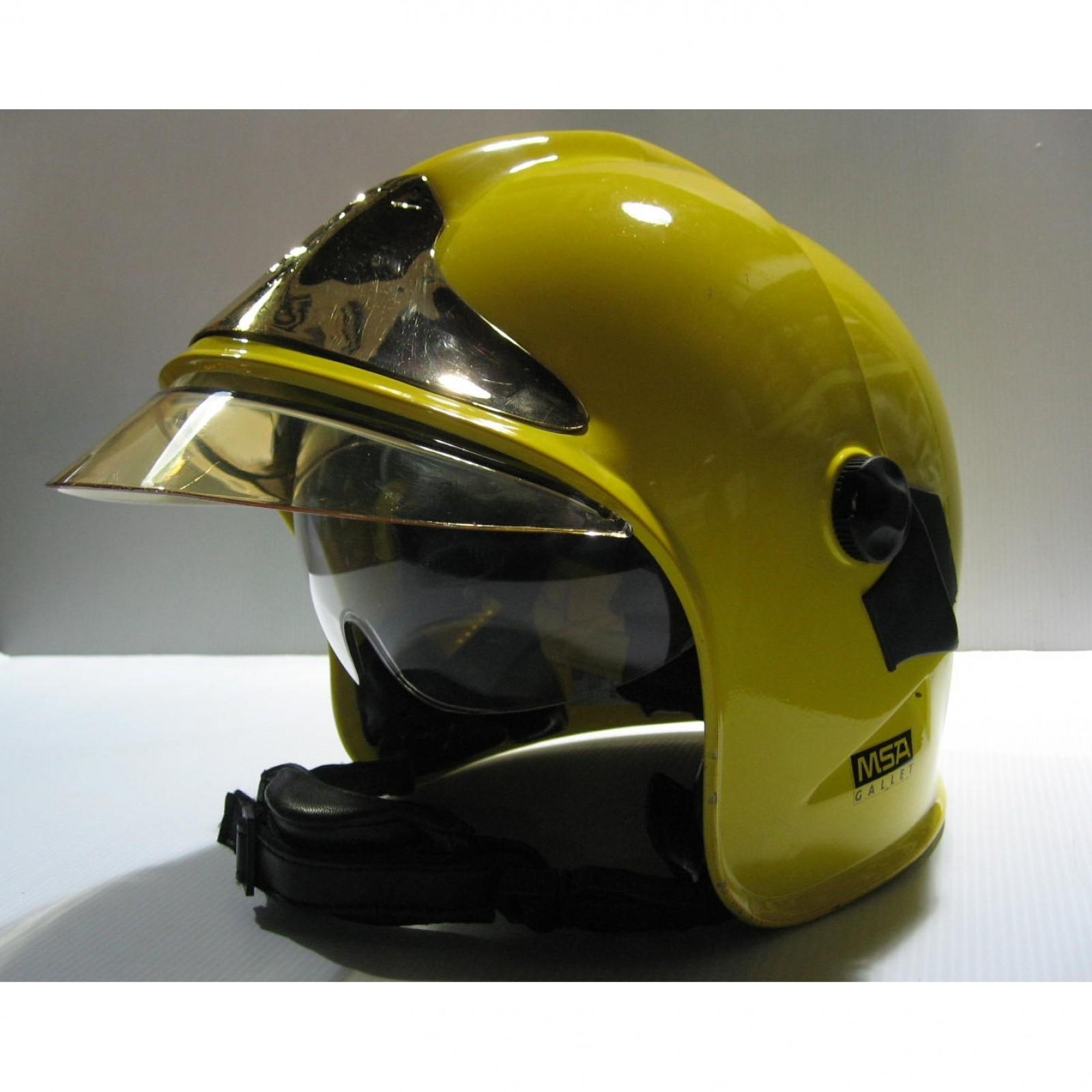 Msa Gallet F1s Firefighter Helmet Yellow Demonstration Unit